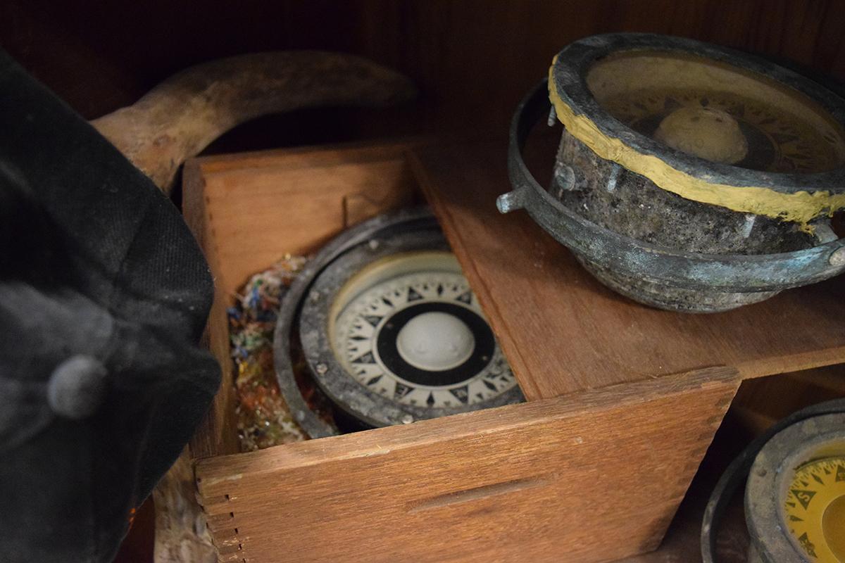 八斗子漁村文物館收藏的羅盤