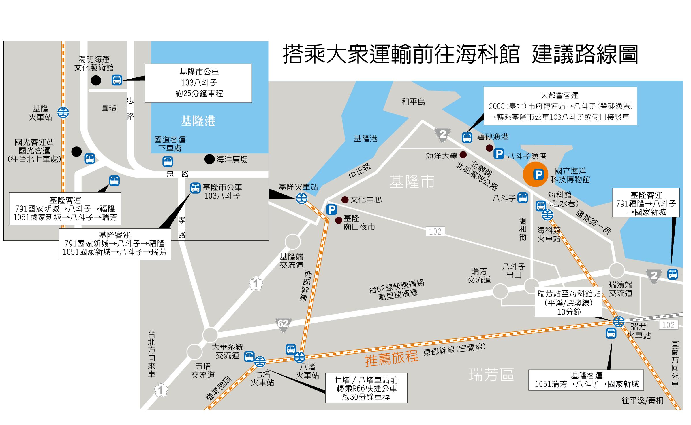 搭乘大眾運輸建議路線圖
