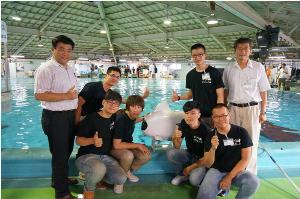 Iron Fish及本館機械魚研發團隊於獲得優勝後合影