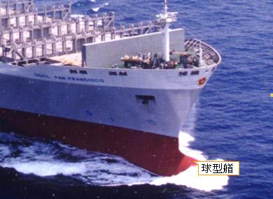 球型艏可降低航行時的阻力