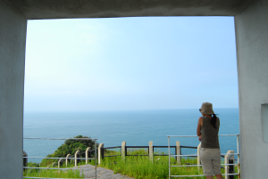 open new window,the top of Badouzi Park