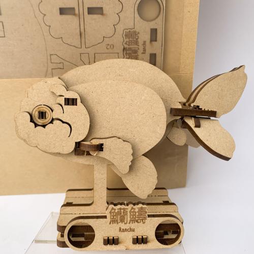 蘭壽金魚立體可動木質拼圖-DIY版