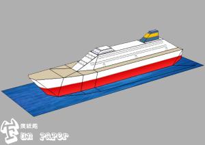 Fun Paper瘋紙趣3D紙模型-郵輪