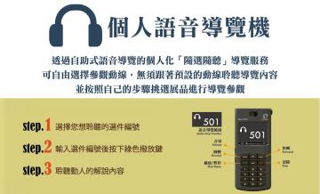 個人語音導覽機租借服務開始
