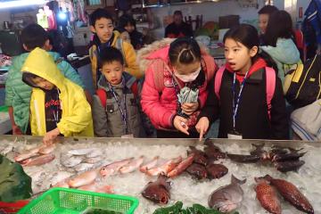 開新視窗,前期花絮1 逛魚市場
