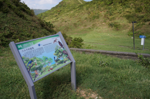 open new window,interpretation boards along the route